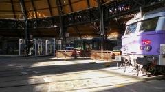 Remise ferroviaire dite rotonde SNCF -  Intérieur de la rotonde du dépot SNCF de Chambéry / Chambéry, Savoie, France