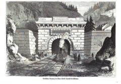 Tunnel du Mont-Fréjus - Deutsch: 1871 Einweihung des Einsenbahntunnels Mont-Cenis