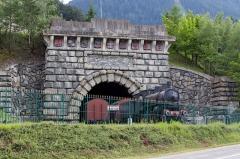Tunnel du Mont-Fréjus -  Ancienne entrée du tunnel ferroviaire du Mont-Cenis, coté français - Modane, Savoie, France