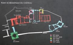 Château - Annecy, Haute-Savoie, France. Plan du château.