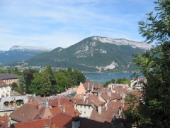Eglise Saint-François -  View of Annecy, France, toward the lake from the Chateau