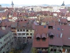 Eglise Saint-Maurice - Español:   Annecy, vista de los tejados