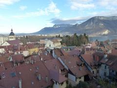 Eglise Saint-Maurice - Español:   Annecy, vista desde el castillo