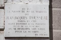 Palais épiscopal - Français:   Plaque à l\'entrée du conservatoire à rayonnement régional d\'Annecy