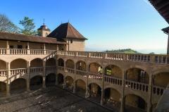 Château - Français:   Vue cour intérieure du château de Clermont (74).