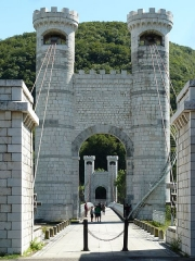 Pont suspendu de la Caille (également sur commune d'Allonzier-la-Caille) -  Beautiful Tower Bridge - Pont de la Caille