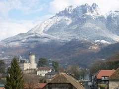Domaine de Châteauvieux - English: Duingt, after overnight snow