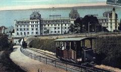 Funiculaire d'Evian-les-Bains à Neuvecelle - English: Hotel Splendide Evian, around 1900
