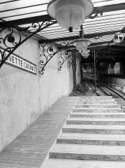 Funiculaire d'Evian-les-Bains à Neuvecelle -  Trainstation Evian