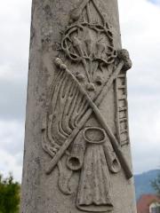 Croix de carrefour dite Croix de Verrières - Français:   Croix de Verrières à Neydens - Décoration