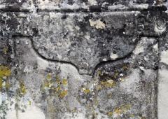 Croix de carrefour dite Croix de Verrières - Français:   Croix de Verrières à Neydens - Inscription date