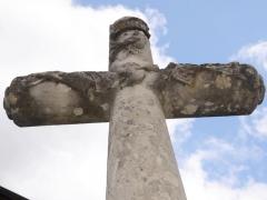 Croix de carrefour dite Croix de Verrières - Français:   Croix de Verrières à Neydens - Vue détaillée