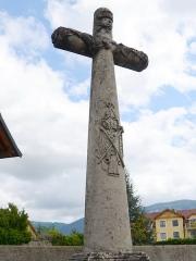 Croix de carrefour dite Croix de Verrières - Français:   Croix de Verrières à Neydens - Vue rapprochée