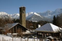 Eglise Notre-Dame-de-Toute-Grâce -  The famous church of Plateau d'Assy and the Mont Blanc chain