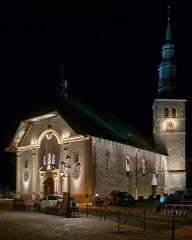 Eglise Saint-Gervais Saint-Protais - English: Gervasius church in Saint-Gervais-les-Bains at night