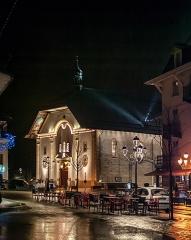 Eglise Saint-Gervais Saint-Protais - English: Saint Gervasius church at night