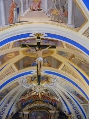 Eglise Saint-Nicolas-de-Véroce - Crucifix suspendu dans l'église Saint-Nicolas-de-Véroce située à Saint-Gervais-les-Bains, Haute-Savoie, France.