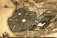 Château de Ripaille et ancienne chartreuse de l'Annonciade-delà-les-Monts - Château de Ripaille plan de 1672