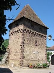 Ancienne enceinte fortifiée urbaine - English: Ammerschwihr, commune in the Haut-Rhin department in Alsace in northeastern France. The