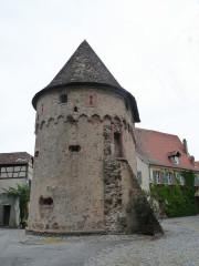 Ancienne enceinte fortifiée urbaine - Français:   Ammerschwihr (Haut-Rhin): Tour des Bourgeois