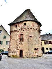 Ancienne enceinte fortifiée urbaine - Français:   La tour des bourgeois, (1), à Ammerschwihr. Haut-Rhin