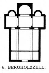 Eglise catholique Saint-Benoit -  Church of Bergholtzzell, floor plan.