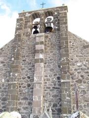 Eglise Saint-Roch de Fortuniès - Français:   Clocher de la chapelle du Village de Fortunies (Commune de Dienne, Cantal)