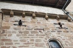 Eglise Saint-Jean-Baptiste - Deutsch: Ehemalige Prioratskirche Saint-Jean-Baptiste in Saint-Vert im Département Haute-Loire (Auvergne-Rhône-Alpes/Frankreich), Kragsteine