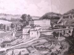 Abbaye - Français:   L\'abbaye de la Sauve-Bénite au dix-huitième siècle.