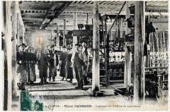 Abbaye - Français:   L\'usine textile Cathaud, installée dans l\'ancienne abbaye de la Sauve-Bénite au dix-neuvième siècle