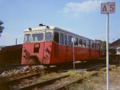 Ligne à voie ferrée métrique le Blanc-Argent (ou B.A.) sur le tronçon Luçay-le-Malé-Argy - Français:   L\'autorail X 205 De Dion Bouton type OC2 du chemin de fer du Blanc-Argent stationne au dépôt de Romorantin.