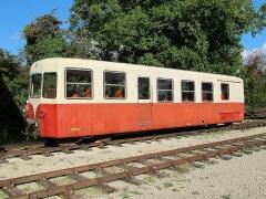 Ligne à voie ferrée métrique le Blanc-Argent (ou B.A.) sur le tronçon Luçay-le-Malé-Argy - Français:   La remorque Verney XR 701 du Train du Bas-Berry le 23 août 2015.