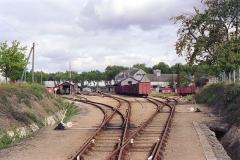 Ligne à voie ferrée métrique le Blanc-Argent (ou B.A.) sur le tronçon Luçay-le-Malé-Argy - Français:   Vue générale de la gare de Valençay le 14 octobre 1989.
