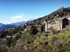 Eglise Santa Reparata -  Morosaglia (Corsica) - Hameau Terchini et l'église Santa-Riparata