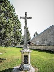 Croix de cimetière - Français:   Croix d\'église de Bouverans. Face ouest. Doubs