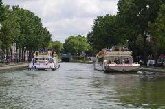 Canal Saint-Martin -  Canal Saint Martin, Paris, France.