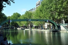 Canal Saint-Martin -  Canal St. Martin, Paris, France August 2012