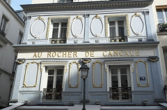 Ancien restaurant Le Rocher de Cancale - Deutsch: Restaurant Le Rocher de Cancale in der Rue Montmartre n° 78 im 2. Arrondissement von Paris (Île-de-France/Frankreich)
