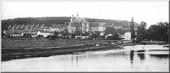 Chartreuse de Bosserville -  Chartreuse de Bosserville à Art-sur-Meuse, vers 1910 (vue du Pont de la Meurthe)