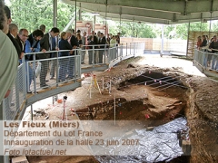 Gisement préhistorique des Fieux - English: Innauguration of the Hall
