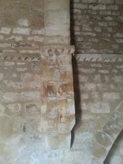 Chapelle Saint-Estève - English: Rians Chapel Saint Esteve - Inside view detail of the cornice