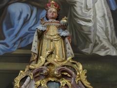 Eglise catholique Saint-Maurice - Alsace, Bas-Rhin, Église Saint-Maurice de Fegersheim (PA00132525, IA00023146).  Autel secondaire de la Sainte Parenté (1780-1847): Statuette de procession