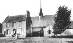 Eglise paroissiale Saint-Pierre - église et presbytère de Parçay-Meslay début du XXe siècle.