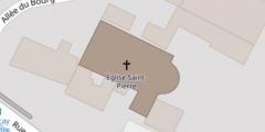 Eglise paroissiale Saint-Pierre - Français:   Plan au sol de l\'église de Parçay-Meslay.