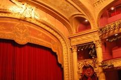 Théâtre municipal - English: Details of the inside of the Grand Théatre, Tours, Indre-et-Loire, France