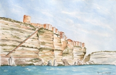 Escalier du roi d'Aragon - English: The Bonifacio chalky cliffs.