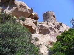 Tour de Roccapina -  Corsica - Roccapina - Tour Genovese - on strange rocks