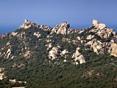 Tour de Roccapina - Français:   Sartène (Corse) - Tour et Lion de Roccapina