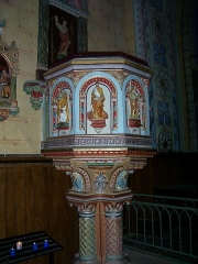 Eglise Sainte-Marie-Madeleine -  Kanzel der Kirche Ste Marie Madeleine in Rennes-le-Chateau