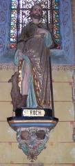 Eglise Sainte-Marie-Madeleine - Deutsch: Skulptur des Heiligen St Roch in der Kirche Ste Marie-Madeleine in Rennes-le-Chateau